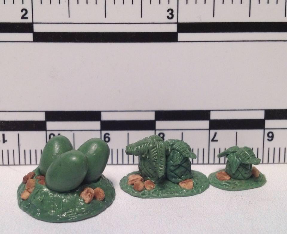 FOI 202 Cycads and dinosaur nest with eggs sprue